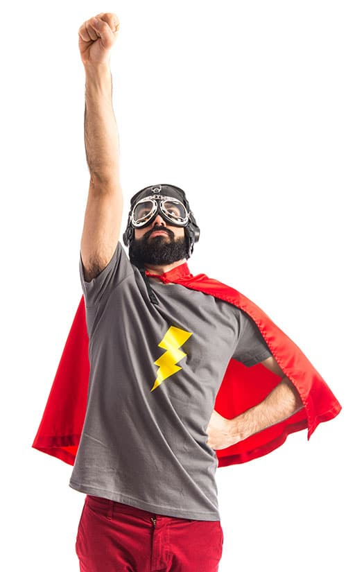 Super Guy Web Design Flying